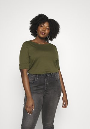 JUDY ELBOW SLEEVE - Basic T-shirt - dark sage