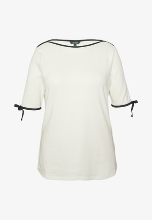 AITHLEY ELBOW SLEEVE - T-Shirt print - mascarpone cream