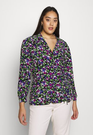 QUEENYAH LONG SLEEVE - Long sleeved top - black/multi