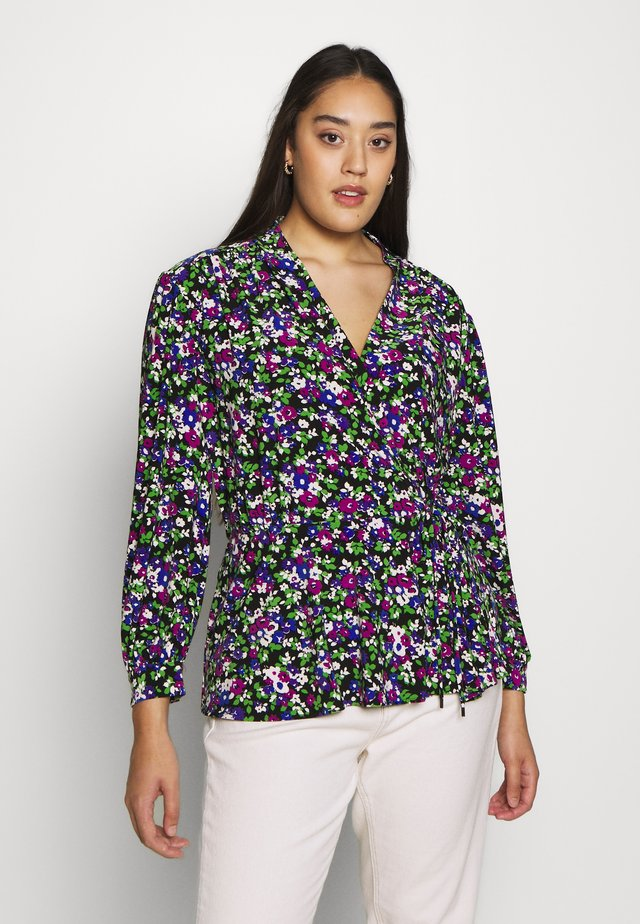 QUEENYAH LONG SLEEVE - Langarmshirt - black/multi