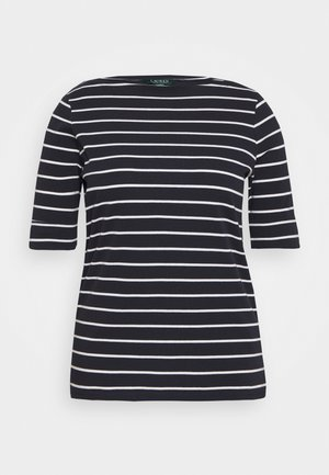 JUDY ELBOW SLEEVE - T-shirt imprimé - navy/white