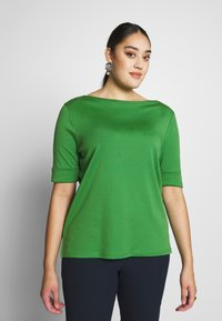 Lauren Ralph Lauren Woman - JUDY ELBOW SLEEVE - T-shirt basique - hedge green - 0