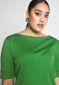 Lauren Ralph Lauren Woman - JUDY ELBOW SLEEVE - T-shirt basique - hedge green - 3