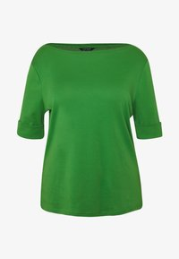 Lauren Ralph Lauren Woman - JUDY ELBOW SLEEVE - T-shirt basique - hedge green - 4