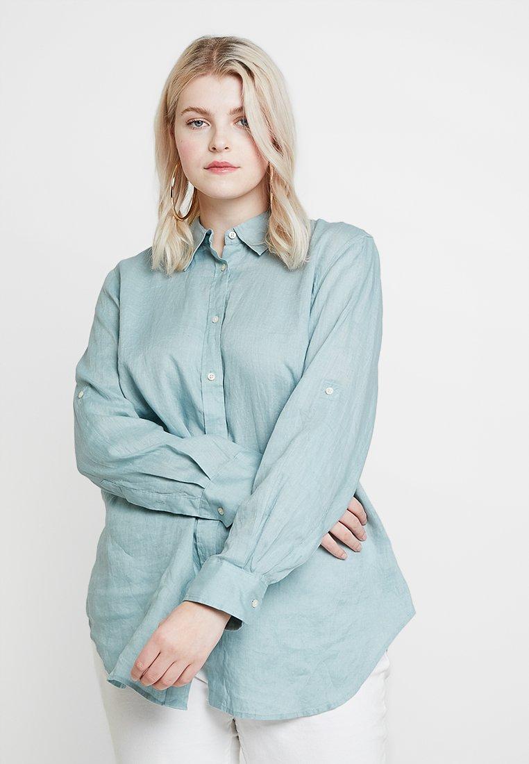 Lauren Ralph Lauren Woman - KARRIE LONG SLEEVE - Button-down blouse - dusty blue