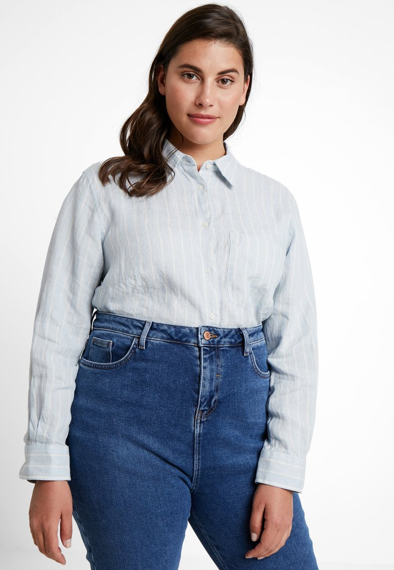 Lauren Ralph Lauren Woman - AQUENE LONG SLEEVE - Button-down blouse - blue