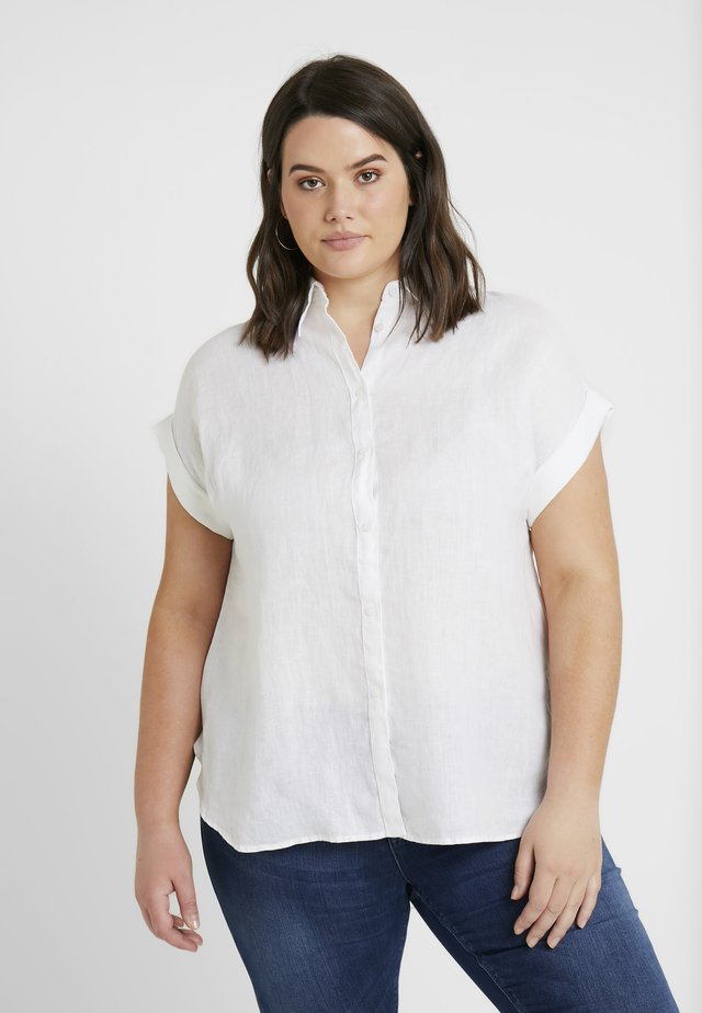 BROONO SHORT SLEEVE - Button-down blouse - white