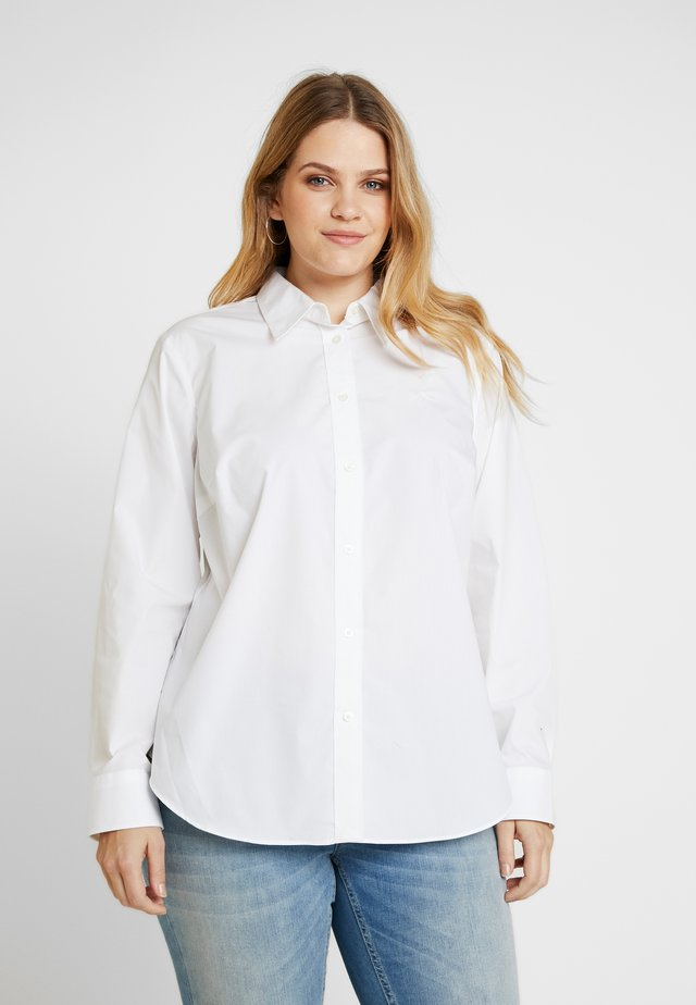 JAMELKO LONG SLEEVE SHIRT - Button-down blouse - white