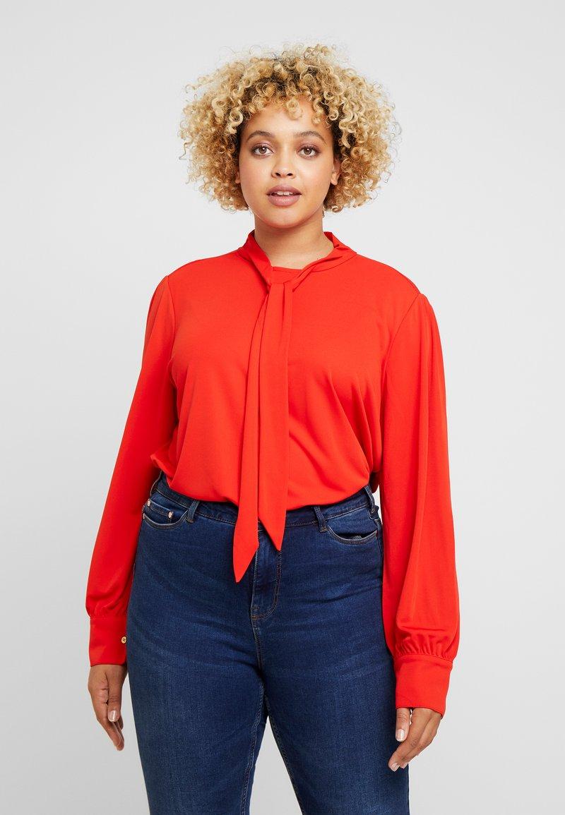Lauren Ralph Lauren Woman - NIHANY LONG SLEEVE - Long sleeved top - sporting orange
