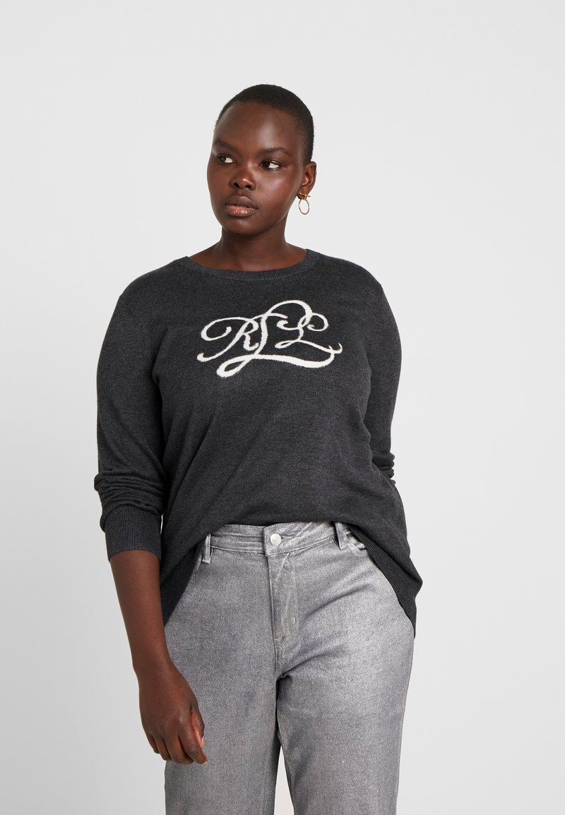 Lauren Ralph Lauren Woman - NAVEELA LONG SLEEVE - Pullover - madison grey heather