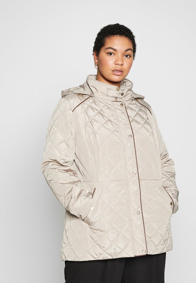 MOTO QUILTED-JACKET - Light jacket - taupe