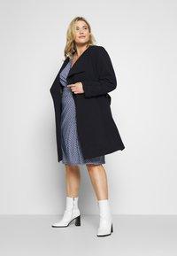 Lauren Ralph Lauren Woman - CREPE SYNTHETIC COAT - Zimní kabát - midnight - 1