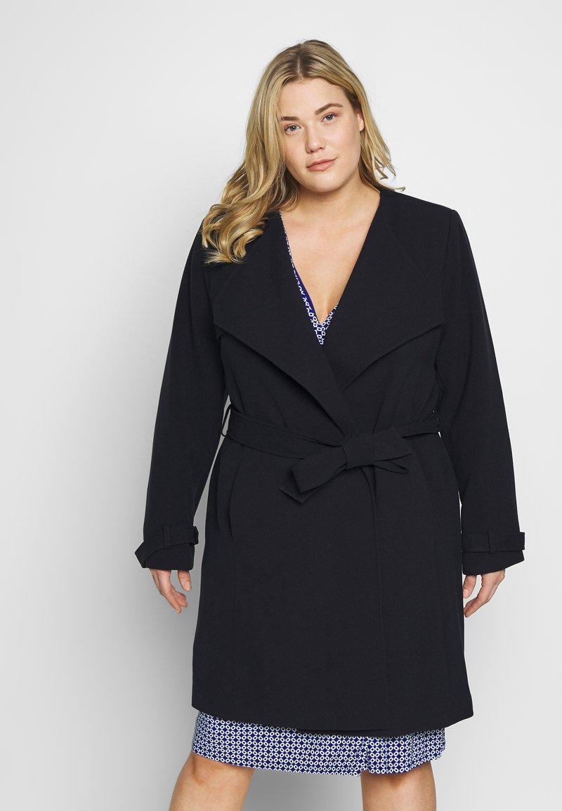 Lauren Ralph Lauren Woman - CREPE SYNTHETIC COAT - Zimní kabát - midnight