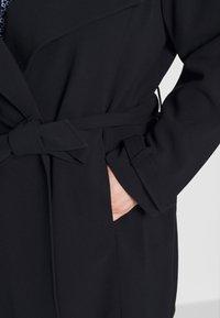 Lauren Ralph Lauren Woman - CREPE SYNTHETIC COAT - Zimní kabát - midnight - 5