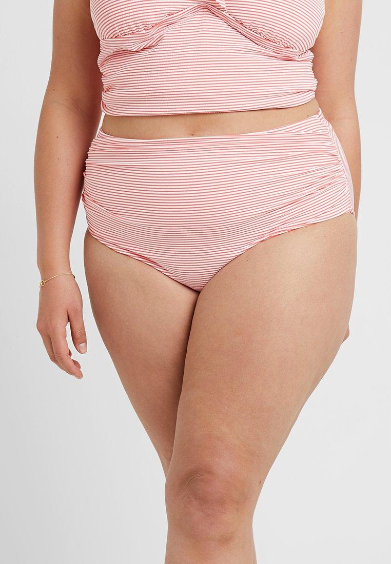 Lauren Ralph Lauren Woman - STRIPE HIGH WAIST PANT SLIMMING FIT - Bikini bottoms - coral reef