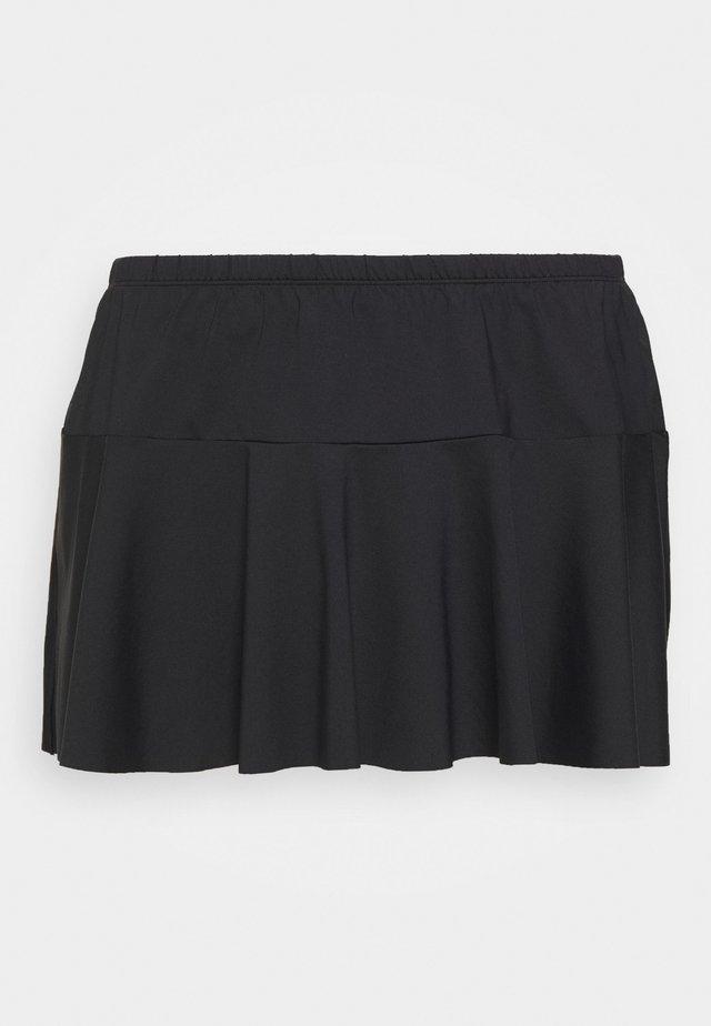 SKIRTED HIPSTER - Bikini-Hose - black