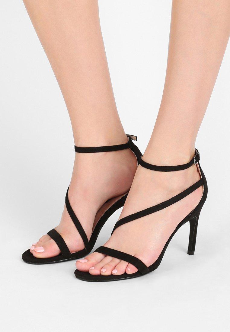 Lost Ink - LIBBY STRAPPY MID - High Heel Sandalette - black