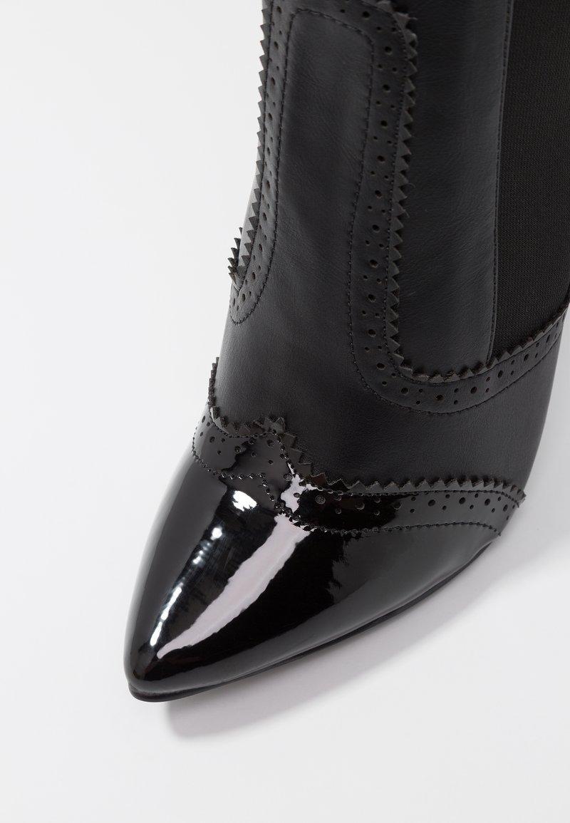 Hauts Talons BootBottes À Black Lost Seb Detail Broguing Ink QBroCWdxe