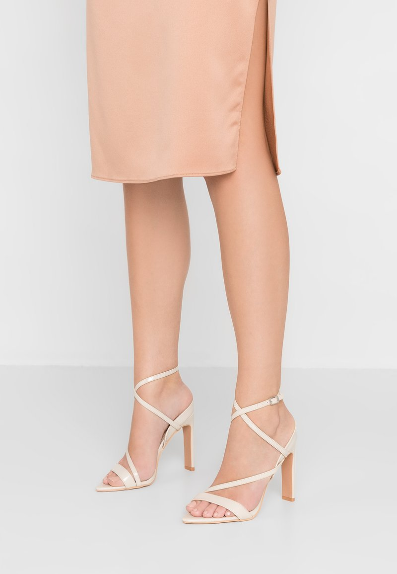 Lost Ink - REGAN POINTED STRAPPY - High heeled sandals - nude