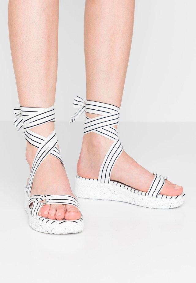SPORTY - Korkeakorkoiset sandaalit - white