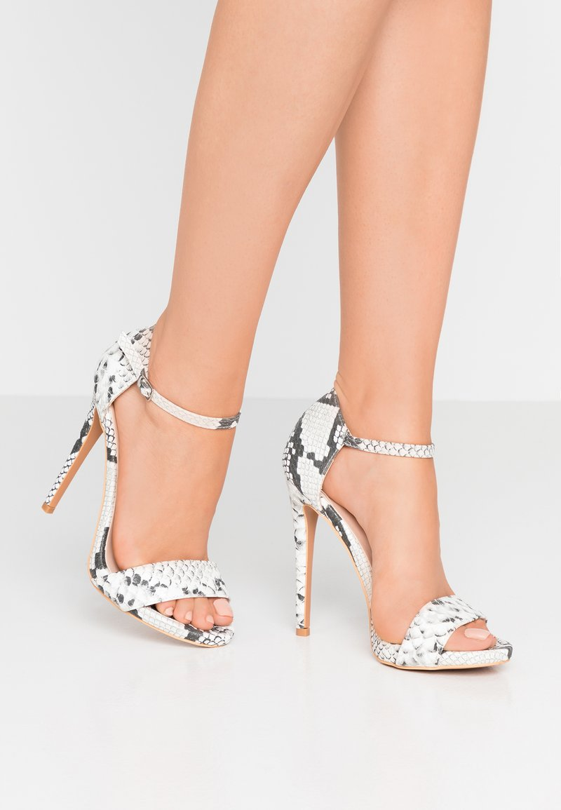 Lost Ink - BLOSSOM - High heeled sandals - grey
