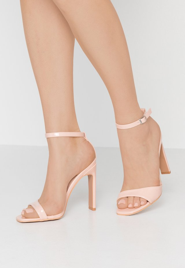 MEGAN SKINNY ANKLE STRAP BARLEY THERE - High heeled sandals - nude