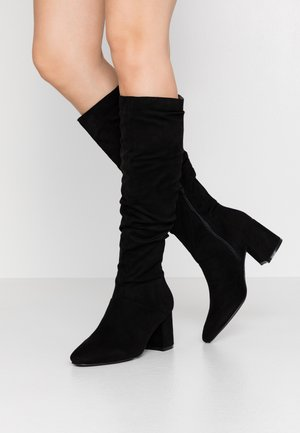 SLOUCHY KNEE HIGH BOOT - Stivali alti - black