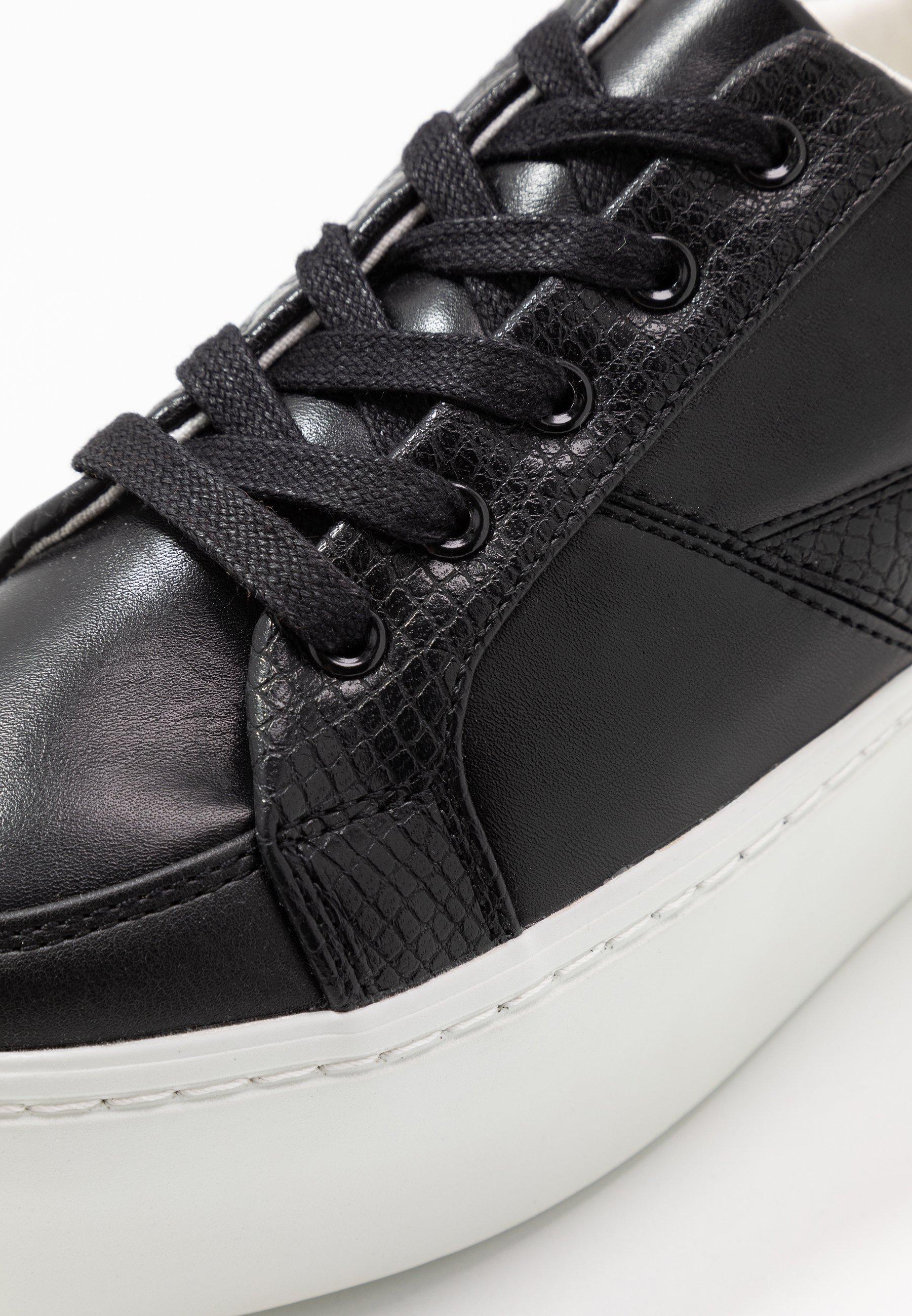 Lost Ink FLATFORM LACE UP TRAINER - Sneakersy niskie - black