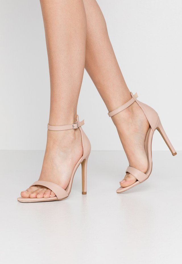 POINTED BARELY THERE  - High Heel Sandalette - nude