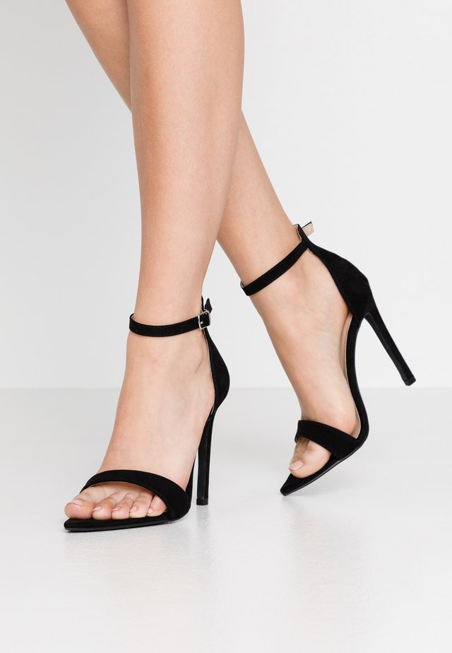 POINTED BARELY THERE  - High heeled sandals - black