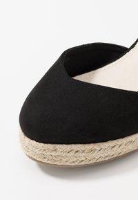 Lost Ink - ANKLE WRAP WEDGE  - Sandály na vysokém podpatku - black - 2