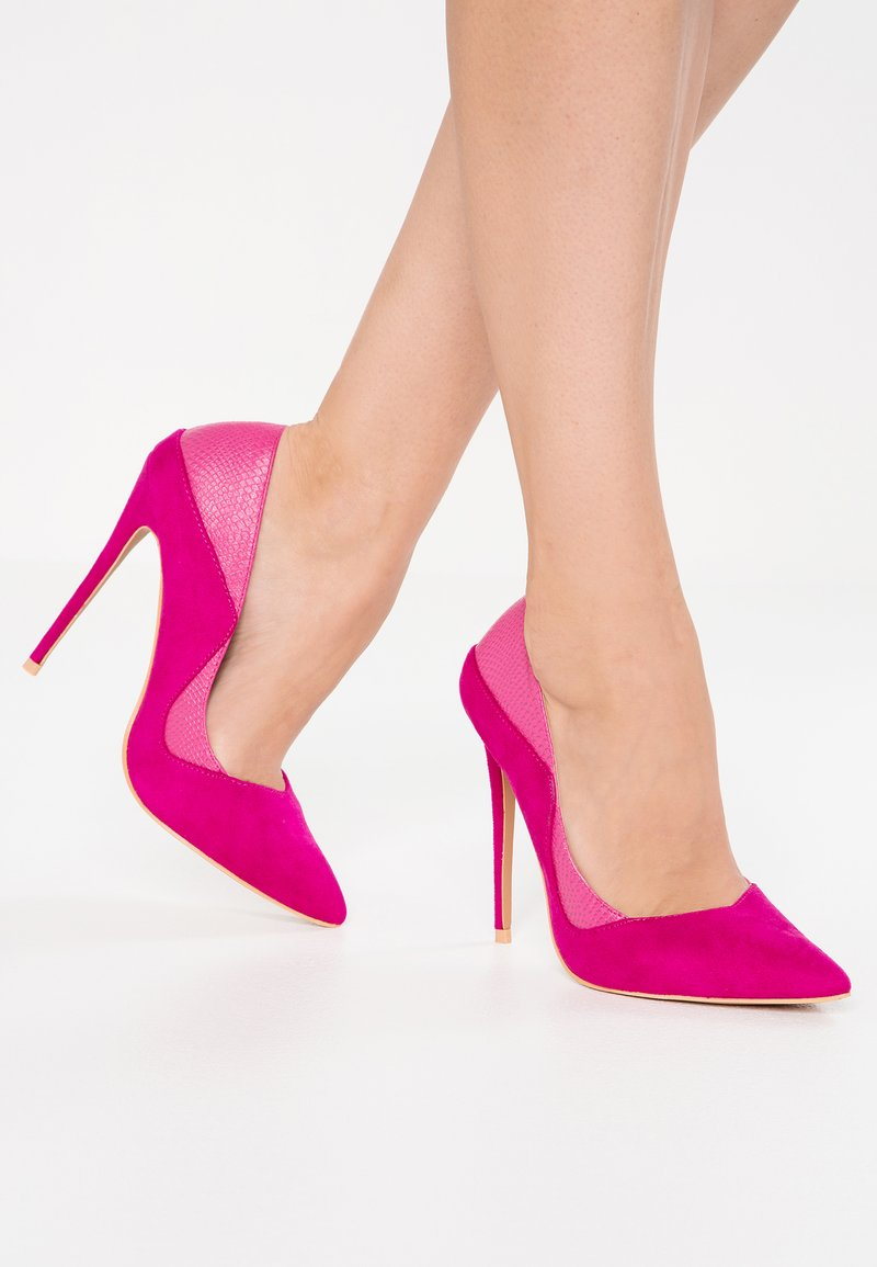 Lost Ink - TIA MIXED STILETTO - Escarpins à talons hauts - fuchsia