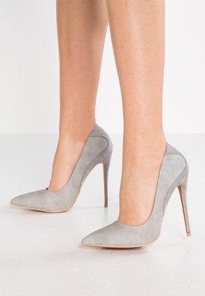 CARRIE STILETTO COURT SHOE - Høye hæler - light grey