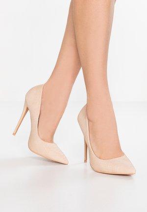 CARLI BASIC COURT SHOE - Høye hæler - nude