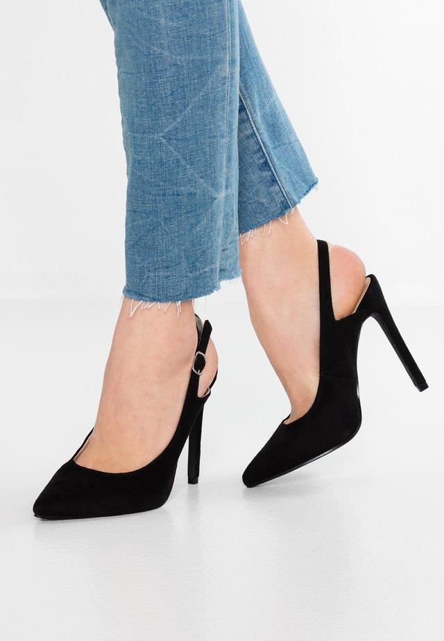 CASS SLINGBACK COURT SHOE - High heels - black