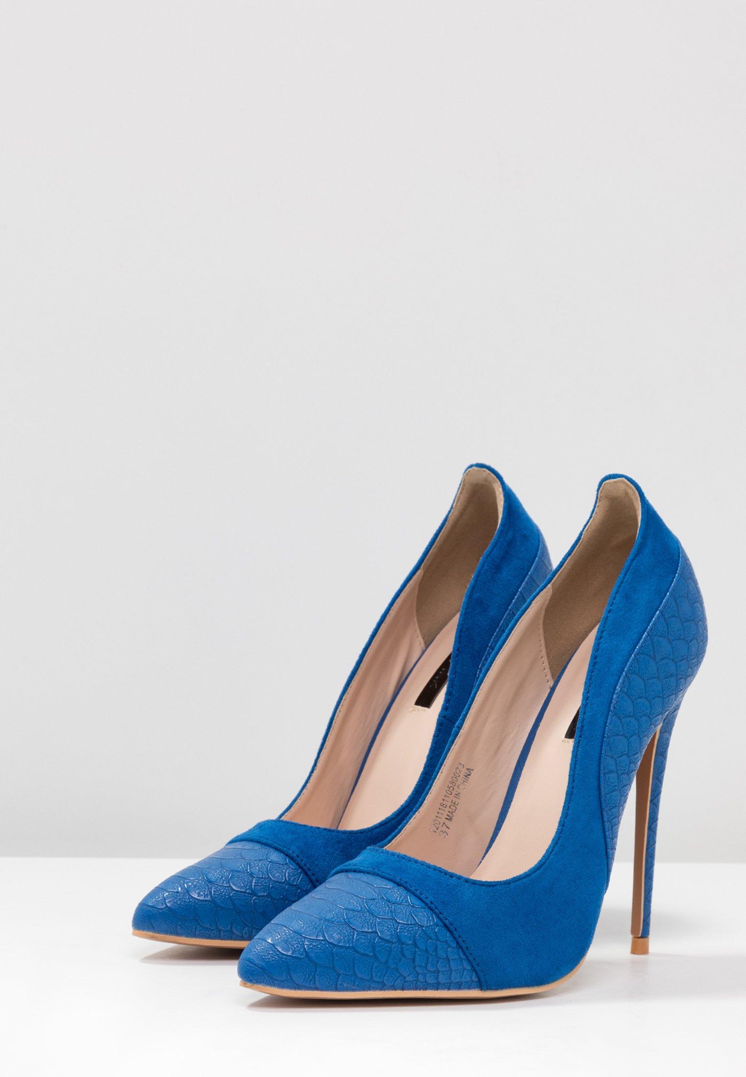 Lost Ink Charly Court Shoe - Escarpins À Talons Hauts Cobalt Blue