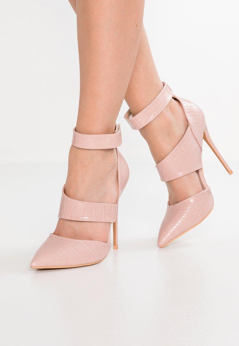 Lost Ink - CLAUDIE  WIDE STRAP COURT - High heels - blush