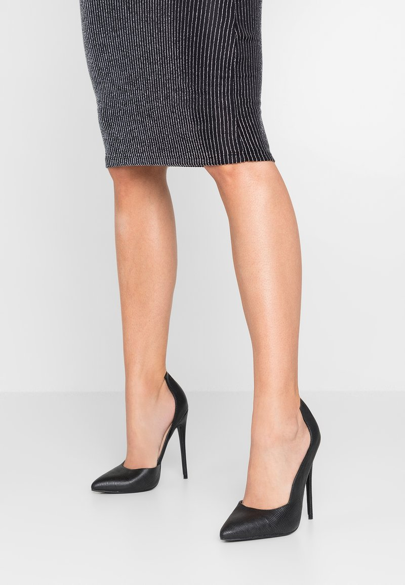 Lost Ink - COCO COUNTER CUT COURT SHOE - High heels - black