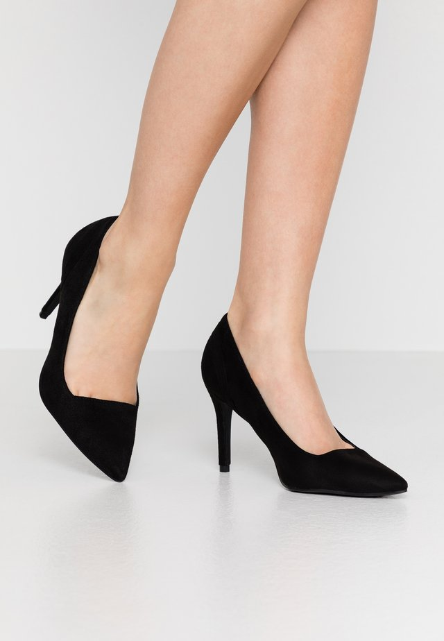 COURT WITH BACK COUNTER DETAIL - Klassiska pumps - black