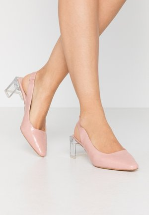 SLINGBACK HEEL SHOE - Classic heels - nude