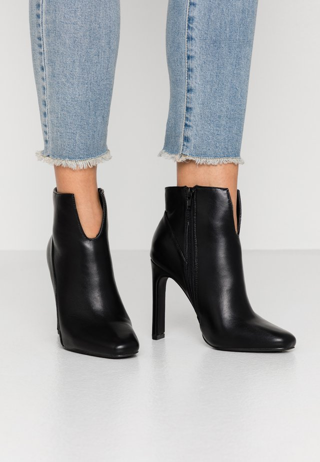 FRONT STILETTO - High heeled ankle boots - black