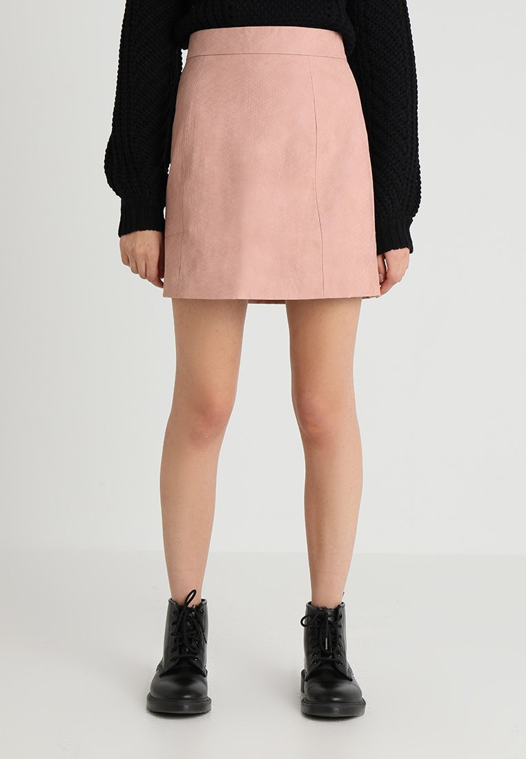 Lost Ink - SKIRT IN CROC - A-line skirt - pink