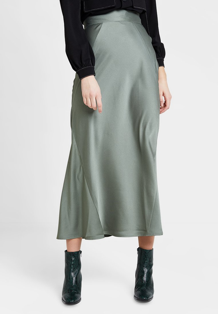 Lost Ink - MIDI SKIRT WITH BIAS CUT - Jupe longue - light green