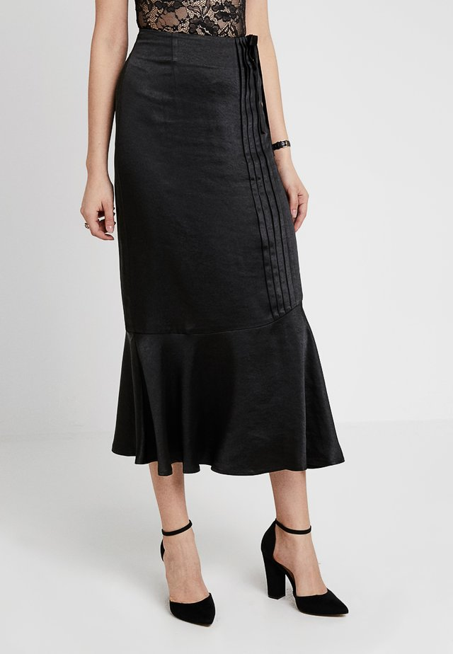 PENCIL SKIRT WITH TRIM DETAIL - A-line skirt - black