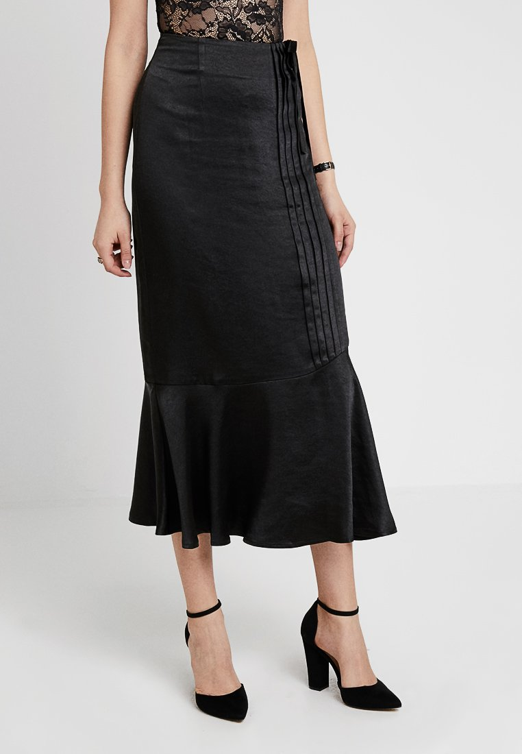 Lost Ink - PENCIL SKIRT WITH TRIM DETAIL - A-line skirt - black