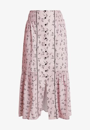 PENCIL SKIRT IN PRINT WITH BUTTON DETAIL - Maxiskjørt - pink