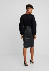Lost Ink - PENCIL SKIRT WITH SEAM DETAIL - Gonna a tubino - black - 2