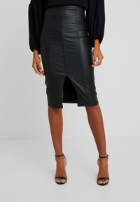 Lost Ink - PENCIL SKIRT WITH SEAM DETAIL - Gonna a tubino - black - 0