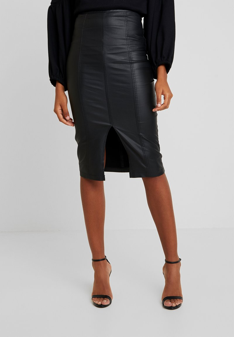 Lost Ink - PENCIL SKIRT WITH SEAM DETAIL - Gonna a tubino - black
