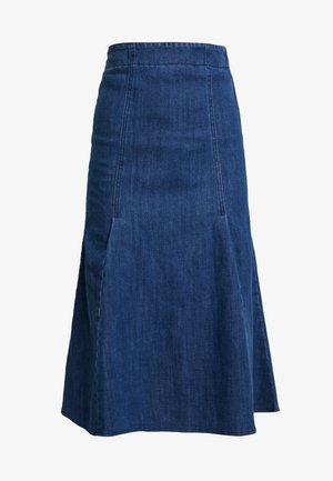 FISHTAIL MIDI SKIRT - A-line skjørt - dark denim